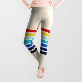 Classic 70s Style Retro Stripes - Inera Leggings