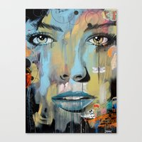 dragonfly Canvas Prints featuring dragonfly by LouiJoverArt