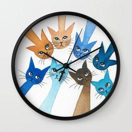 Chantilly Whimsical Cats Wall Clock