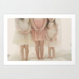 pretty little maidens Art Print