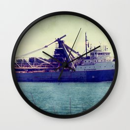 Great Lakes Freighter Wall Clock