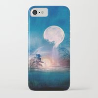 sun and moon iPhone & iPod Cases featuring Moon Above, Sun Below by Viviana Gonzalez