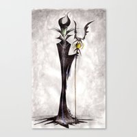 maleficent Canvas Prints featuring Maleficent by Jena Sinclair