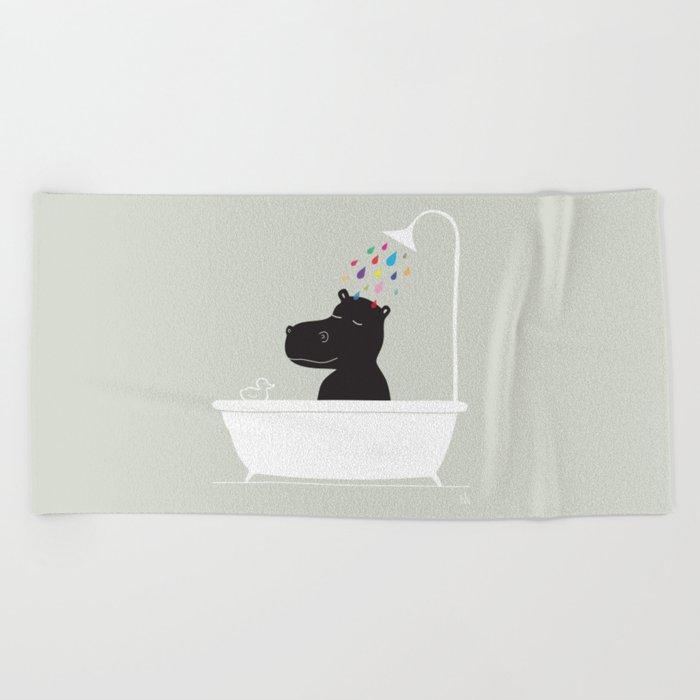 The Happy Shower Beach Towel