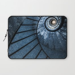 Pretty blue spiral staircase Laptop Sleeve