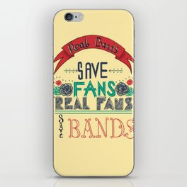 Real Bands save fans iPhone Skin