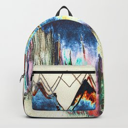 Digtal Watercolor Painting Mountains Psychedelic Backpack