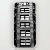 building iPhone & iPod Skins featuring Building by Conor O'Mara