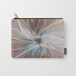 A Floral Friend, Abstract Fractal Art Carry-All Pouch