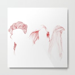 Three Red Girls Metal Print