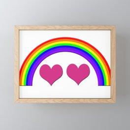 Rainbow Equal Love Framed Mini Art Print