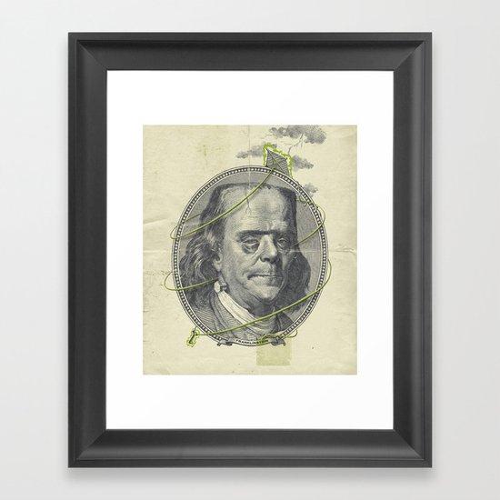 Franklinstein Framed Art Print