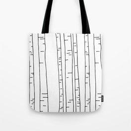 Minimal birches Tote Bag