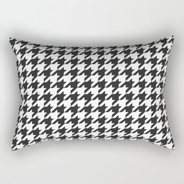 Black and white houndstooth pattern Rectangular Pillow