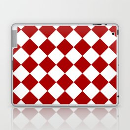 Red and white square pattern Laptop & iPad Skin