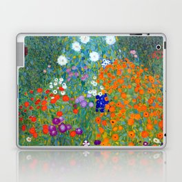 Gustav Klimt Flower Garden Laptop & iPad Skin