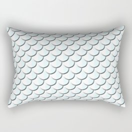 Platinum Mermaid Print Rectangular Pillow