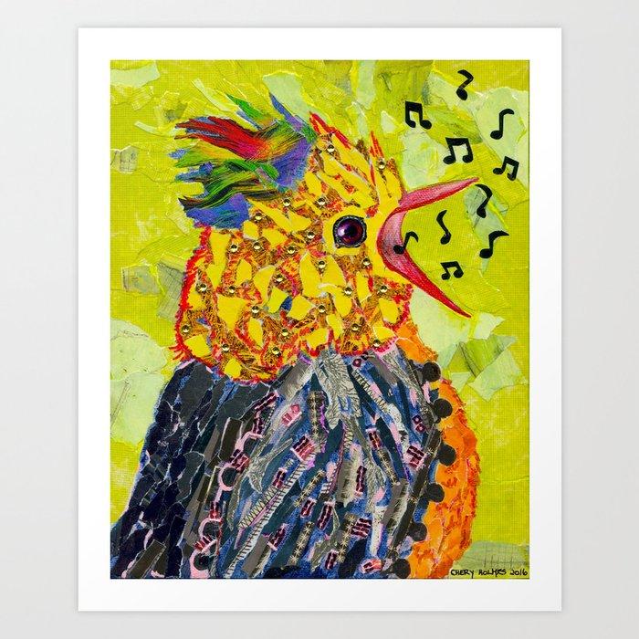 ef4f011d784 Singing Bird Happy Bird Baby Bunting Art Print by cheryh33