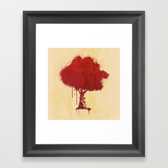 s tree t Framed Art Print