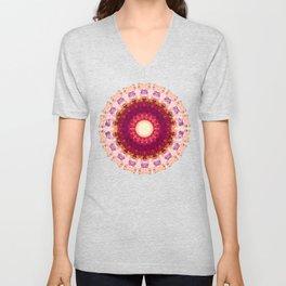 Kindness Mandala Art by Sharon Cummings Unisex V-Neck