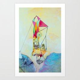 Triangulation Tower Art Print