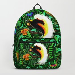Paradise Bird Fire Feathers Backpack