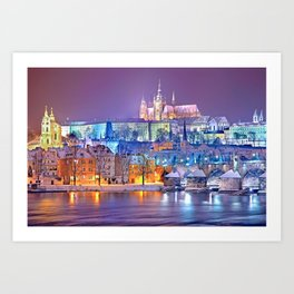 Colorful Prague Landscape Art Print