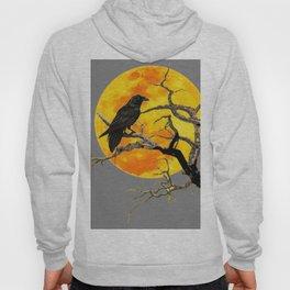 FULL MOON & RAVEN ON DEAD TREE Hoody