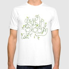 Green is in Bloom Mens Fitted Tee White SMALL