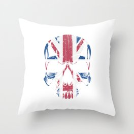 Patriotic Brexit United Kingdom UK Skull Flag Brexiting Europe Union Politics Throw Pillow