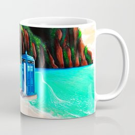 Tardis With Beauty Mermaid Coffee Mug