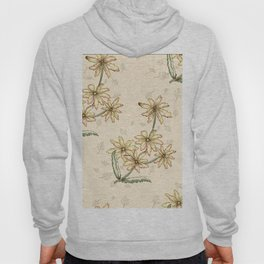Retro Watercolor Autumn Leaves Pattern Hoody