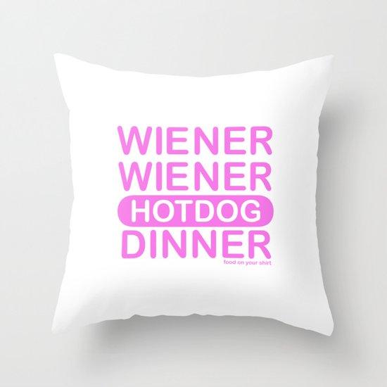 wiener wiener Throw Pillow