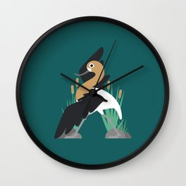 A is for Avocet Wall Clock