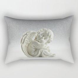Angelic Cherub Snowfall Photography Rectangular Pillow