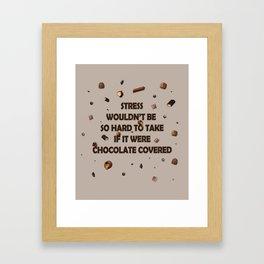 Falling chocolates Framed Art Print