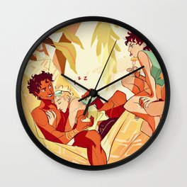Damen & Laurent summer Wall Clock