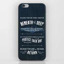 Submariners' Hymn iPhone Skin