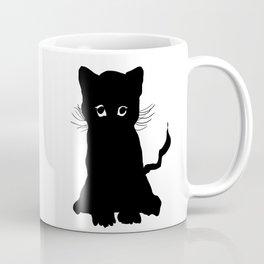sweet black kitten digital painting Coffee Mug