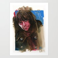 neil young Art Prints featuring Young Neil by kenmeyerjr