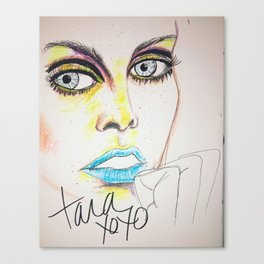 Twiggy in neon Canvas Print