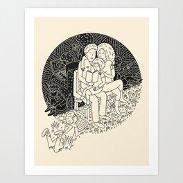 Bond to Literacy Art Print