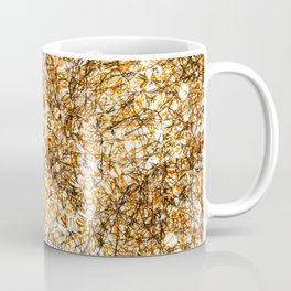 Abstract background of dark and orange lines with blur Coffee Mug