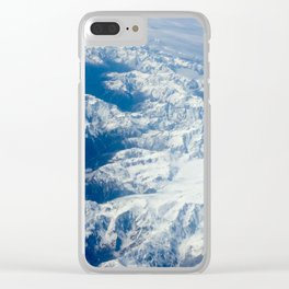 In flight series - southern alps New Zealand Clear iPhone Case