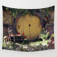hobbit Wall Tapestries featuring The Hobbit by Cynthia del Rio
