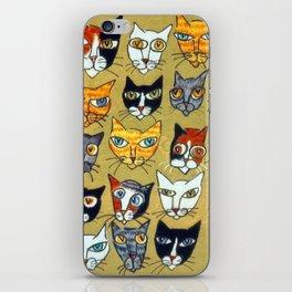 25 Cat Heads iPhone Skin