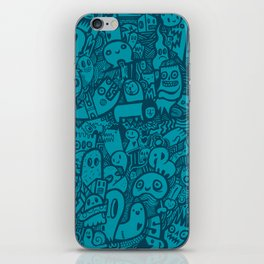 Blue Doodle iPhone Skin