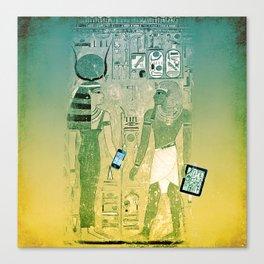 Ancient Egypt wireless, tablets and hieroglyphs Canvas Print