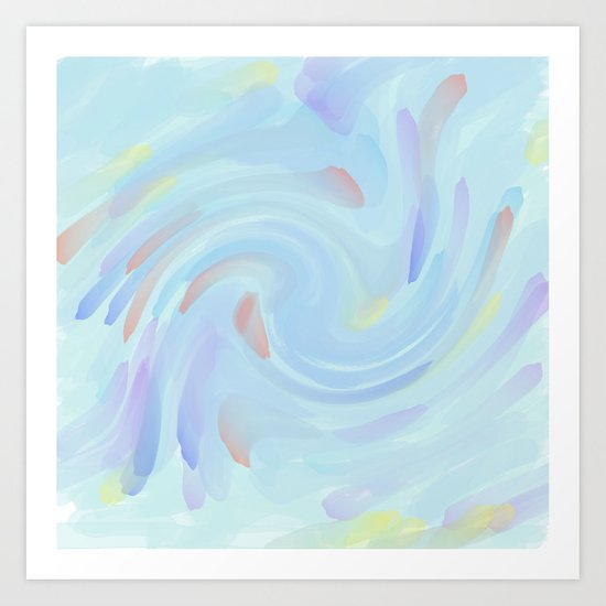 Painted Pastel Abstract Art Print
