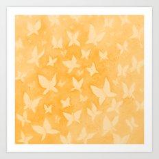 Butterfly Dreams in orange Art Print